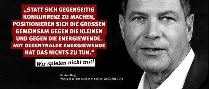Dr. Axel Berg | Deutsche Sektion von Eurosolar